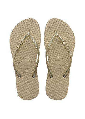 sand Logo Infradito light Slim Beige Havaianas Grey Golden Donna Metallic qB4xS