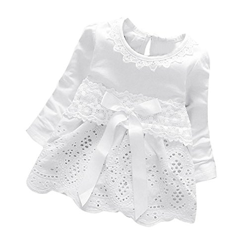 PPBUY Baby Girls Long Sleeve Lace Flower Princess Dress (6-12M, (Star Tiered Dress)