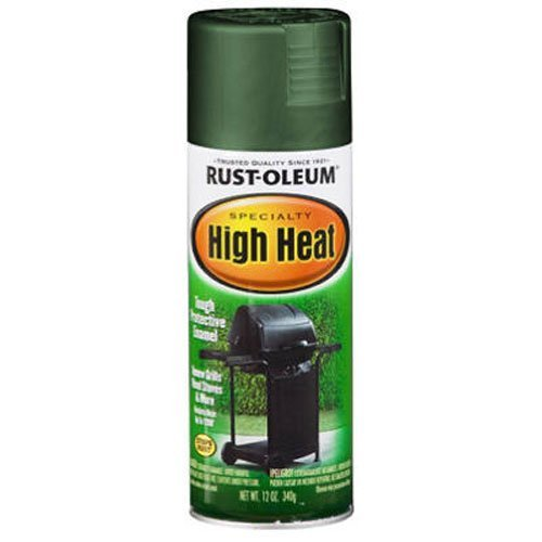 Rust-Oleum 7752830 High Heat Enamel Spray, 12 oz, Green