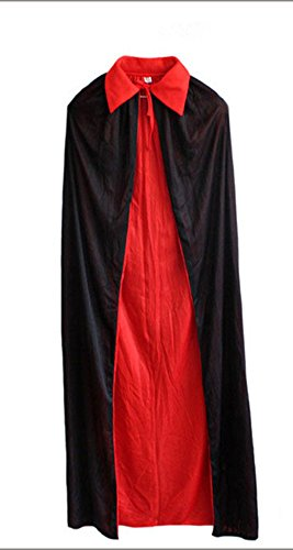 FloYoung Vampire Cape Costume Halloween Black Red Cosplay Party Cloak Cape (Sexy Male Vampire Costume)