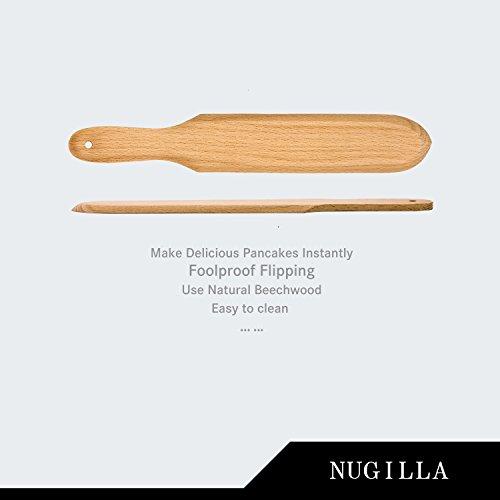 Nugilla Original Crepe Spreader and Spatula Set – 3 Pieces 10-inch Spatula | 4.7-inch Spreaders – Premium Beechwood for Crepe Pan Maker/Breakfast Pancakes by Nugilla (Image #2)