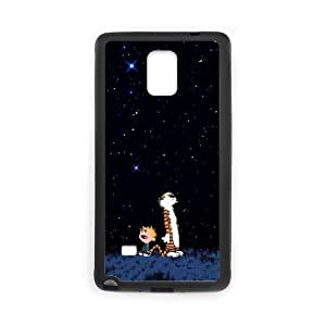 Unique Printing Skin Shell Calvin and Hobbes Pattern Phone Case for SamSung Galaxy Note4,TPU+PC Material Diy Cover Case s6-linda110