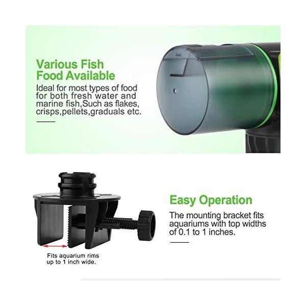 Torlam Auto Fish Feeder, Moisture-Proof Electric Auto Fish Feeder,Aquarium Tank Timer Feeder Vacation &Weekend 2 Fish Food Dispenser 4