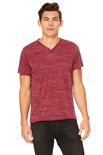(Bella + Canvas Womens 4.2 oz. V-Neck Jersey T-Shirt (3005) -Maroon MAR -XL)