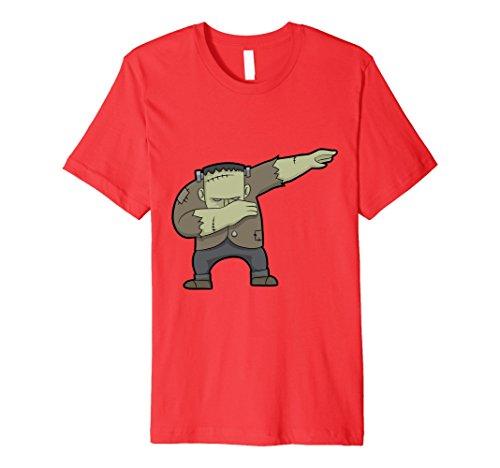 Frankenstein Girl Costume Ideas (Mens Dabbing Frankenstein T-Shirt Dab Pose Dance Hip-Hop Shirt Medium Red)