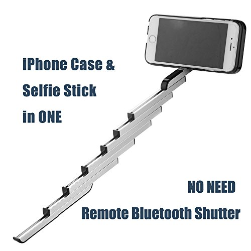 waterluu selfie stick case for iphone 6 iphone 6s iphone 6 import it all. Black Bedroom Furniture Sets. Home Design Ideas