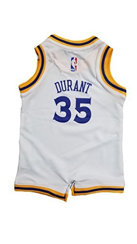 Kevin Durant Golden State Warriors #35 White Infants Adidas Home Replica Jersey (18 - Jersey Infant Romper