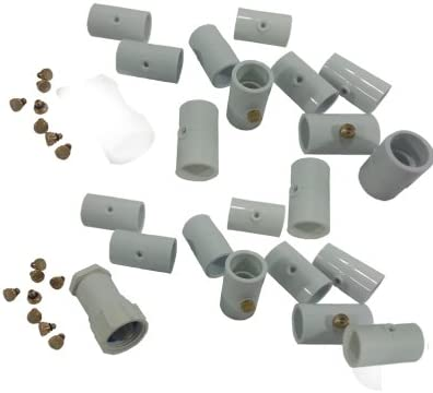 Pack of 20 pcs PVC Misting Kit 10 Nozzles Do It Yourself PVC Mist Kit