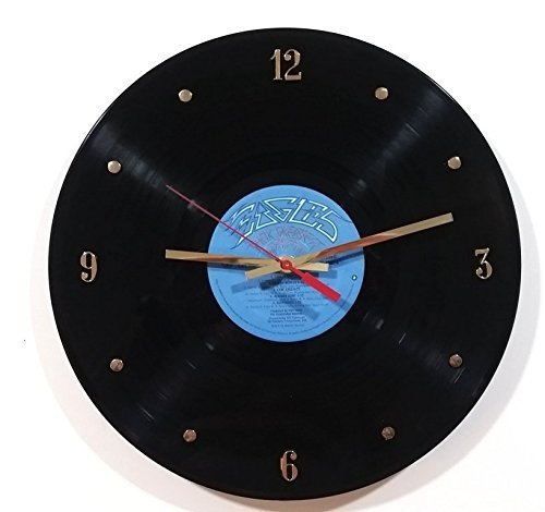 American Eagle Clock - Eagles Vinyl Record Clock (Their Greatest Hits). Handmade 12