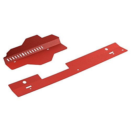 Radiator Shroud & Pulley Belt Cover Combo For 2002-2007 Subaru WRX & STi Red (Belt Shrouds)