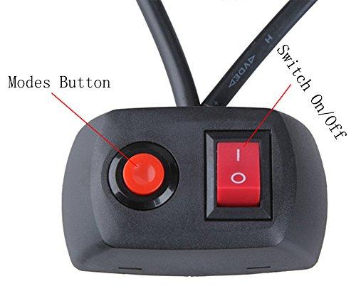 18-16-LED-Emergency-Strobe-Light-Bar-for-Advisor-Vehicle-Traffic-Warning-with-7-Flashing-Modes-RedBlue