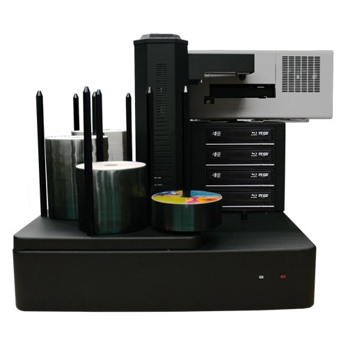 Cronus Plus 4 Burner 500 Disc Capacity Inkjet Blu-ray DVD CD Publishing System with Built-in PC - Plus Inkjet