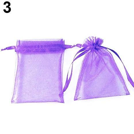 Jianchangsheng 50 bolsas de organza para guardar joyas o ...