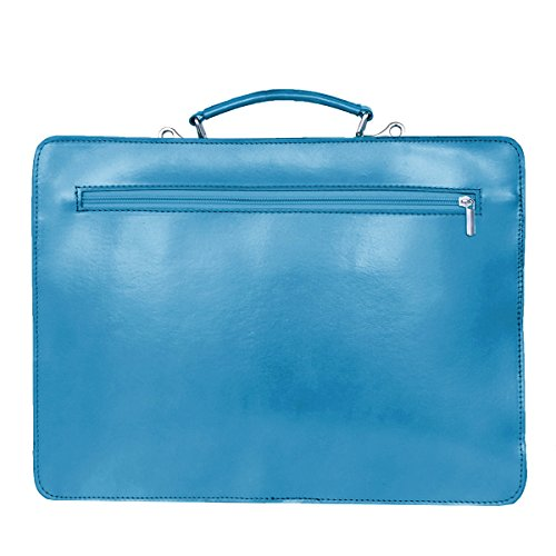 formel Light Fashion Briefcase Blue Unisex Blue Leather q8OwdRX
