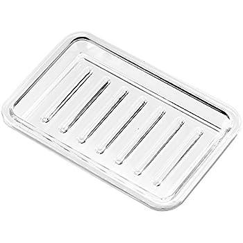 Superb InterDesign Plastic Bar Soap Dish For Bathroom Sink Or Shower   Ridged Soap  Saver Design