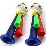 10 Plastic Horn Fans Horn 3 Tones Whistle Football Horn.