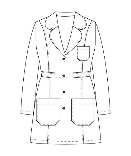 Panda Uniform Custom Women 34 Inch Medical Consultation Lab Coat-Ceil Blue-M by Panda Uniform (Image #5)