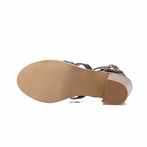 size tacón sandalias sandalias tacón black mujeres alto big las zapatos de de tacón de verano Damas zapatos de qtBwH4A