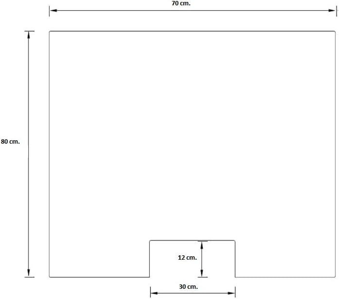 Protector metacrilato mostrador farmacia tienda - Mampara protectora - Paraban protector - Pantalla protección comercios, hoteles, supermercados - 100 x 80 cm: Amazon.es: Oficina y papelería