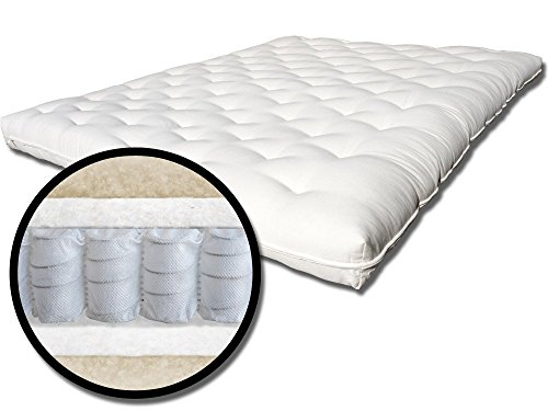 The Futon Shop Pure Comfort Chemical Free Wool, Organic Cotton and MicroCoils Futon Mattress Full (Organic Cotton Futon Mattress)
