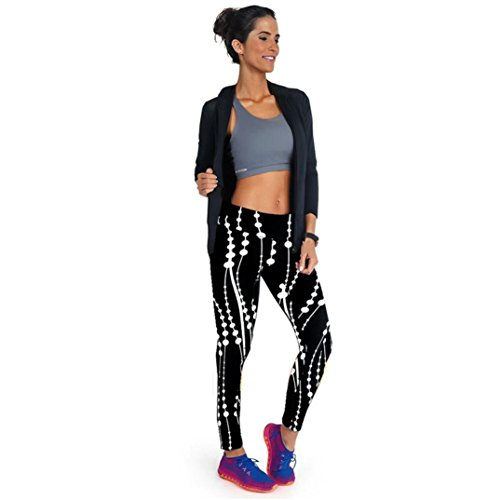 Gillberry High Waist Fitness Yoga Sport Pants Printed Stretch Points