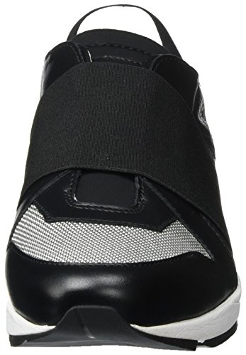 HUGO Damen Asya-e 10195764 01 Sneaker Schwarz (Black 1)