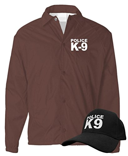 K-9 UNIT - k9 canine police officer swat - COACH JACKET + HAT COMBO, S, (Brown Swat Cloth)
