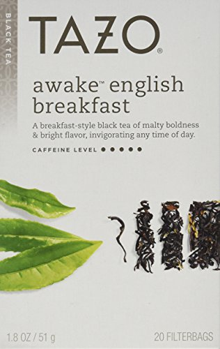 Tazo Awake English Breakfast Filterbag Tea , 20 Count (Pack of 4)