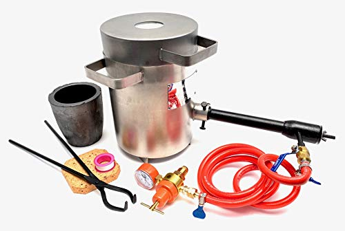 Cast Masters Propane Furnace w 5KG Crucible and Tongs Kiln Smelting Gold Silver Copper Scrap Metal...