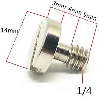 LZZR 14mm 1//4 Connexion /à vis for tr/épied Monopode cam/éra Rapide Plaque de Presse Baseplate Rig 1//4 Adaptateur Vis Non Anneau