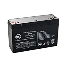 LightAlarms 860.0010 6V 12Ah Emergency Light Battery - This is an AJC Brand® Replacement
