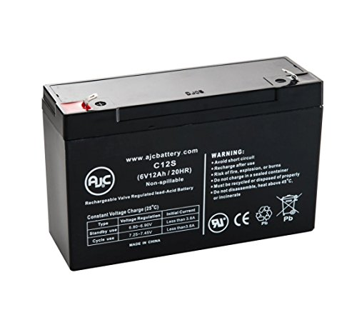 Data Shield T 550 (1) 6V 12Ah UPS Battery - This is an AJC Brand Replacement by AJC Battery