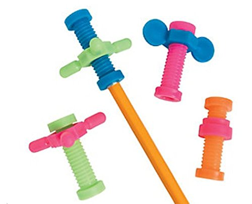 Fidget Pencil Toppers, 48 Count, Keep Hands Busy So Kids Can -