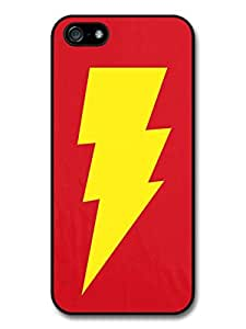 Big Bang Theory Yellow Lightning and Red Background Case For Htc One M9 Cover