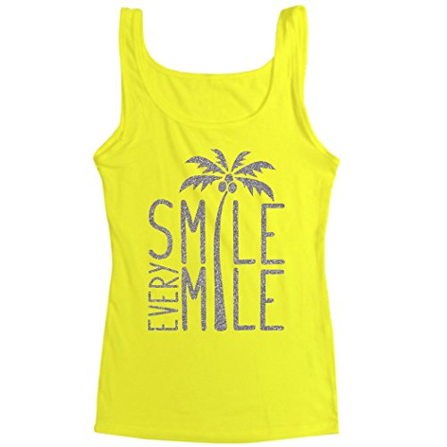 Runners Tank Top by Gone For a Run | Womens Tank Top | Smile Every Mile | Neon Yellow | Small