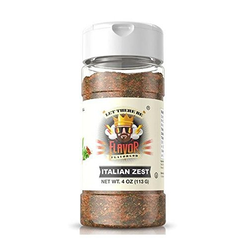 Flavor God - Gluten Free Zero Calories Seasoning - Great For Meal Prep, Diet (Italian Zest ()