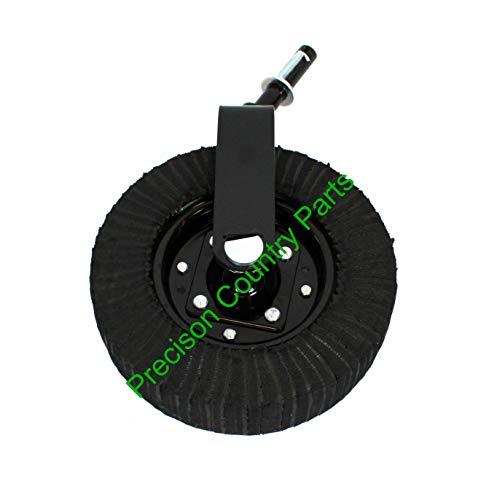 "15"" Laminated Tire Tail Wheel Assembly- Hub with Bearings- 1-1/4"" Yoke Shaft Diameter"