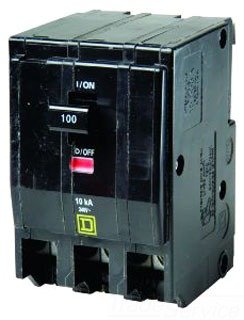 Square D Circuit Breaker, 100 Amp, 3-Pole, QO3100 ()