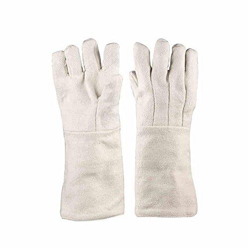 Ceramic fiber anti - 1000 ° insulation gloves industrial heat - resistant high temperature experimental labor insurance gloves