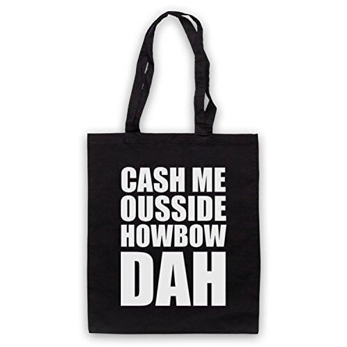 Cash Me Ousside Howbow Dah Meme Bolso Negro