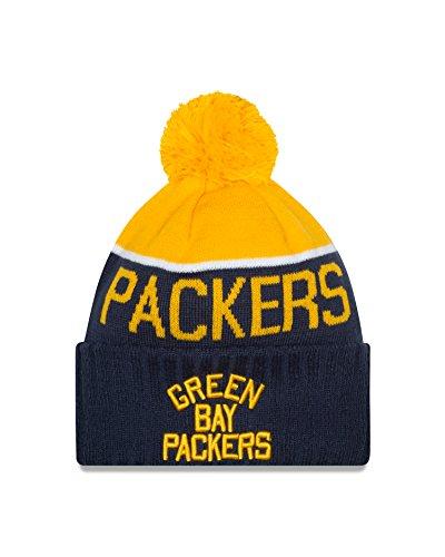New Era Green Bay Packers 2015 Sport Knit Cuffed Pom Knit Cap/Beanie