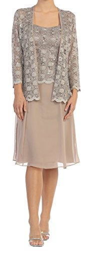 Belle Maids Lace and Chiffon Mother's Dress 4282V-BM