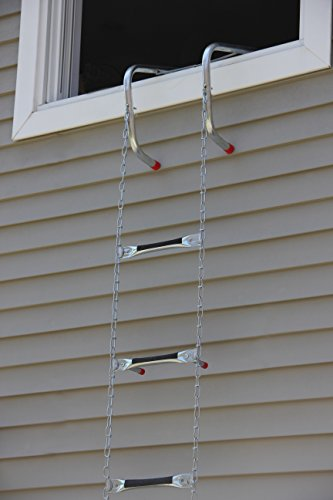 Saf-Escape 2 Story 15' Portable Escape Ladder - Fits up to 14'' Thick Walls! by Saf-Escape