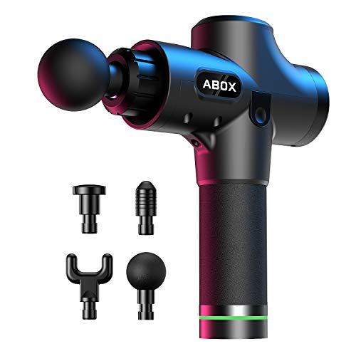 New Muscle Massager ABOX Percussion Massage Gun, Handheld Muscle Massager Electric Deep Tissue Treatment Device MG-009, with Ultra Quiet Motor, 20 Speed Strength Levels 2019