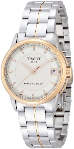 Tissot Lady Luxury Automatic Ivory Dial Two-Tone Stainless Steel Ladies Watch T0862072226101 ()