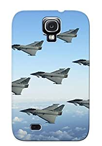 SDQsZOO510OFzdt Tpu Case Skin Protector For Galaxy S4 Typhoon Jetfighter Diamond Formation With Nice Appearance For Lovers Gifts