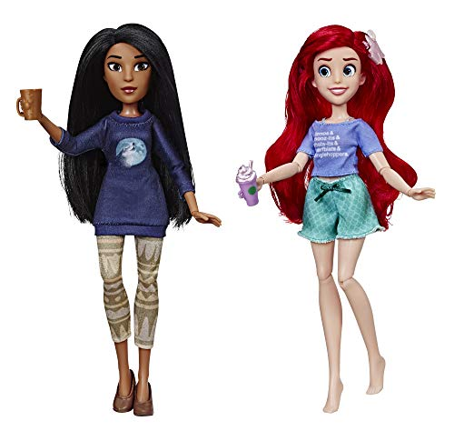 Disney Princess Ralph Breaks The Internet Movie Dolls, Ariel & Pocahontas Dolls with Comfy Clothes & Accessories -