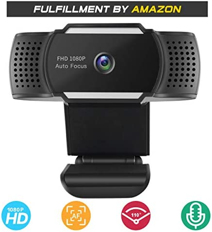 Webcam 1080PMicrophone Fogeek Full HD Autofocus Web Camera for Conferencing Video Calling Recording and Streaming [Free-Driver Installation] 500M Pixels USB Camera for PC Laptop Desktop