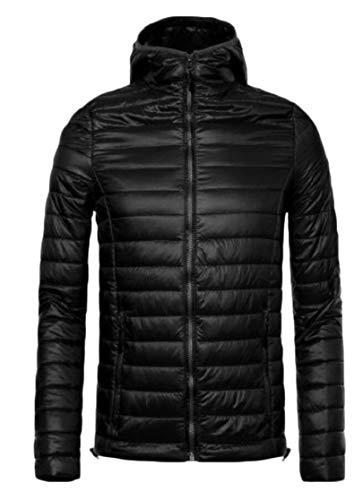 Hooded Outerwear Black Winter Jacket TTYLLMAO Down Men's Lightweight Puffer Packable Coat zqTETP
