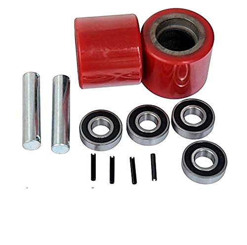 (Pallet Jack Replacement Load Wheels Kit with 20mm Bearings 3-9/16